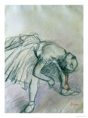 Dancer Fixing Her Slipper - Giclee Print