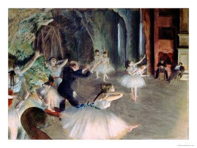 The Rehearsal of the Ballet on Stage, circa 1878-79 - Giclee Print