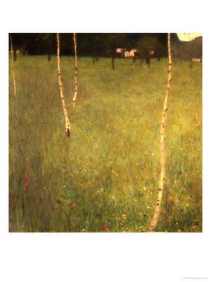 Farmhouse with Birch Trees (Bauenhaus Mit Birken) - Giclee Print
