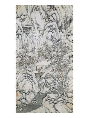 Bottom Half of Mountain Stream Under Snow - Giclee Print