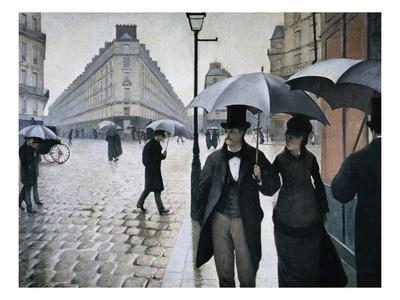 Paris Street; Rainy Day, 1877 - Giclee Print