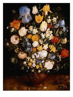 Small Vase of Flowers - Giclee Print