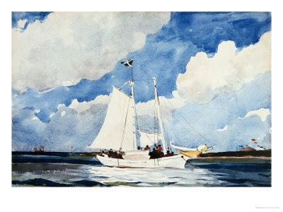 Fishing Schooner, Nassau - Giclee Print