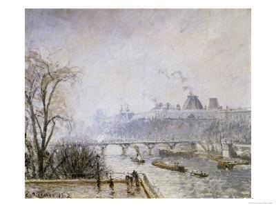 The Louvre and the Seine from the Pont Neuf, Morning Mist, 1902 - Giclee Print