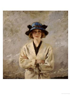 Girl in a Blue Hat, 1912 - Giclee Print