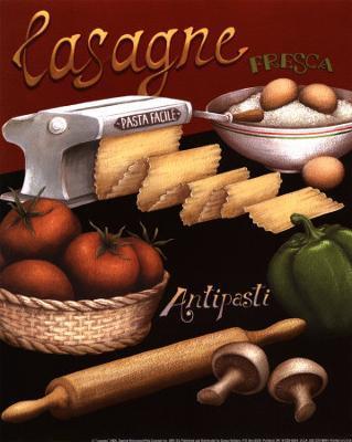 Lasagna - Art Print