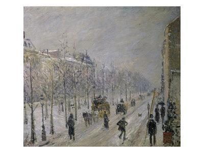 The Effect of Snow on the Boulevard's Appearance - Giclee Print
