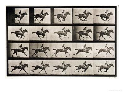 """Jockey on a Galloping Horse, Plate 627 from """"Animal Locomotion,"""" 1887 - Giclee Print"""