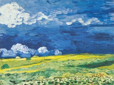 Wheatfield under a Cloudy Sky, c.1890 - Art Print