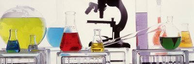 Close-up of Laboratory Equipment - Photographic Print