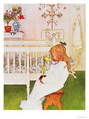 Lisbeth with a Yellow Tulip - Giclee Print