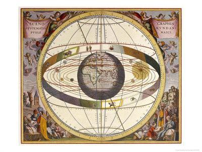 Representation of Ptolemy's System Showing Earth - Giclee Print