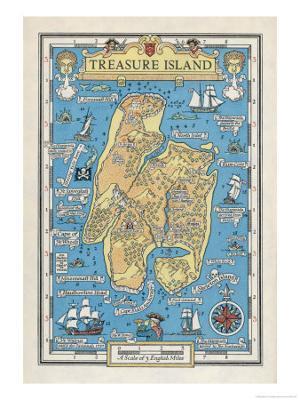 Map of Treasure Island - Giclee Print