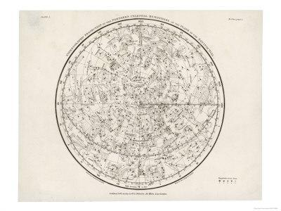 The Northern Hemisphere Including the Signs of the Zodiac - Giclee Print