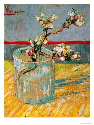 Blossoming Almond Branch in a Glass, c.1888 - Stretched Canvas Print