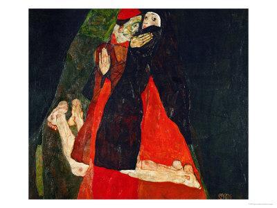 Cardinal and Nun (Liebkosung), 1912 - Giclee Print