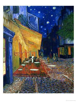 The Café Terrace on the Place du Forum, Arles, at Night, c.1888 - Giclee Print