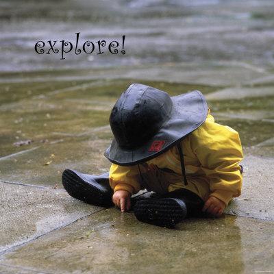 Explore: Child in the Rain - Photo