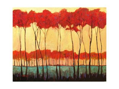 Tall Red Trees - Giclee Print