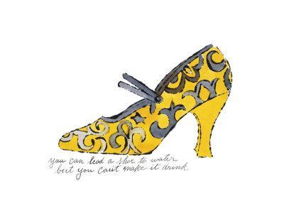 Yellow Pattern Shoe, c.1955 - Art Print