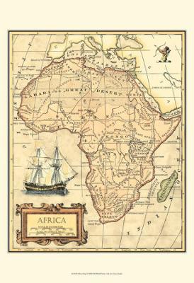 Africa Map - Art Print