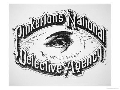 "Pinkerton's National Detective Agency, ""We Never Sleep - Giclee Print"