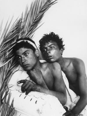 Portrait of Two Sicilian Youth - Photographic Print