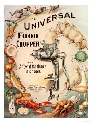 Food Choppers Mincers the Universal Cooking Appliances Gadgets, USA, 1890 - Photo
