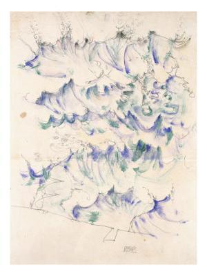 Waves. Wellen. Egon Schiele. Gouache and Pencil on Buff Paper, 1912 - Giclee Print