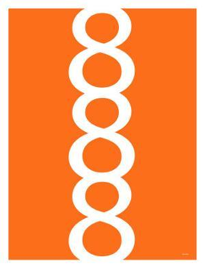 Orange Figure 8 Design - Art Print