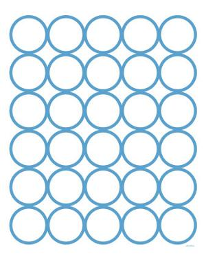 Blue Circles - Stretched Canvas Print