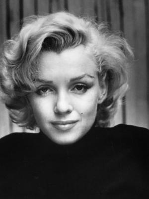 Portrait of Actress Marilyn Monroe at Home - Premium Photographic Print