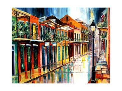French Quarter Rain - Giclee Print
