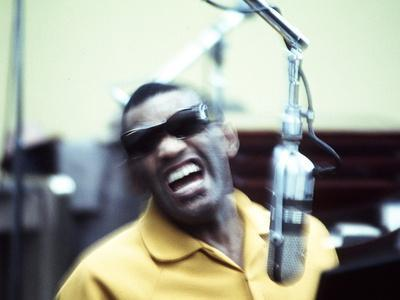 Ray Charles in the Recording Studio - Photo