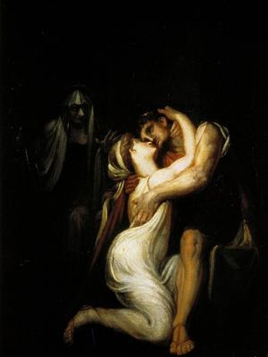 Penelope Recognizes Ulysses and Embraces Him, in the Background the Nurse Ericlea - Giclee Print