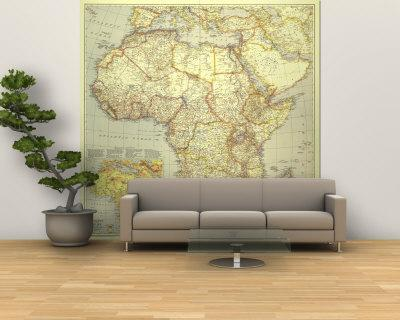 1935 Africa Map - Wall Mural – Large