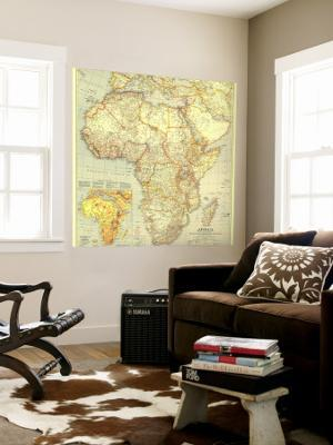 1935 Africa Map - Wall Mural