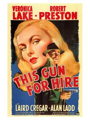 This Gun For Hire, 1942 - Stretched Canvas Print