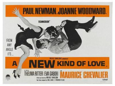 A New Kind of Love, UK Movie Poster, 1963 - Giclee Print