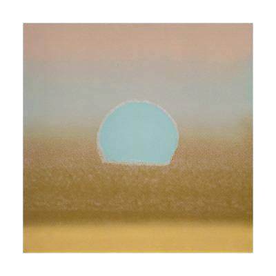 Sunset, c.1972 (gold, blue) - Giclee Print