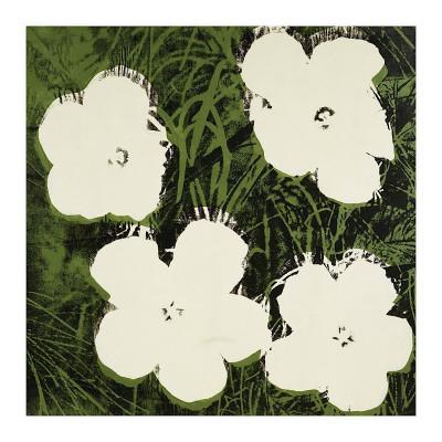 Flowers, c.1964 (White) - Giclee Print