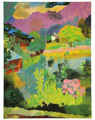 Garden at Stampa, c.1946 - Art Print