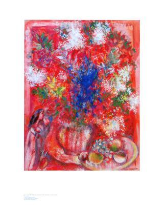 The Red Flowers - Art Print