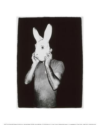Man with Rabbit Mask, c.1979 - Giclee Print