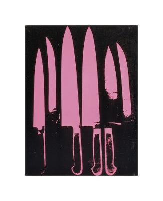 Knives, c. 1981-82 (pink and black) - Giclee Print