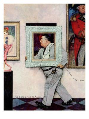 """""""Picture Hanger"""" or """"Museum Worker"""", March 2,1946 - Giclee Print"""