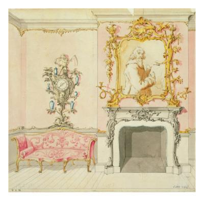 Proposal for a Drawing Room Interior, 1755-60 - Giclee Print