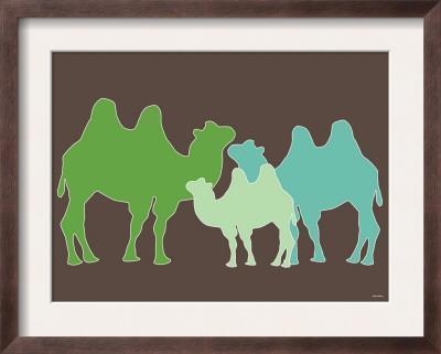 Green Camel - Framed Art Print