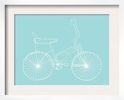 Seagreen Bike - Framed Art Print