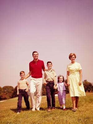 Family Walking - Photographic Print